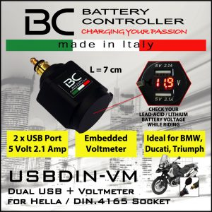 UK Supplier NEW 018 OptiMate SAE 018 12V DIN Panel Socket M18 spring top