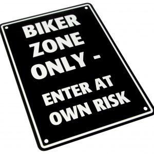 Bike It Aluminium Parking Sign - Biker Zone Only