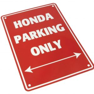 Bike It Aluminium Parking Sign - Honda Parking Only