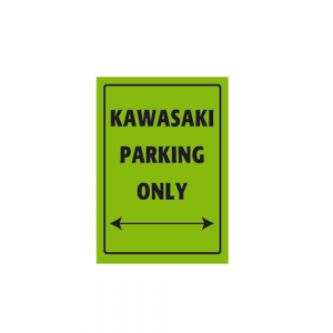 Bike It Aluminium Parking Sign - Kawasaki Parking Only