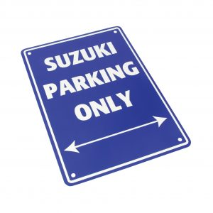 Bike It Aluminium Parking Sign - Suzuki Parking Only