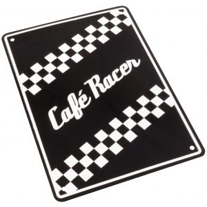 Bike It Aluminium Parking Sign - Café Racer