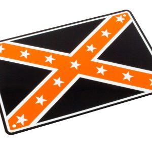 Bike It Aluminium Parking Sign - Confederate Flag