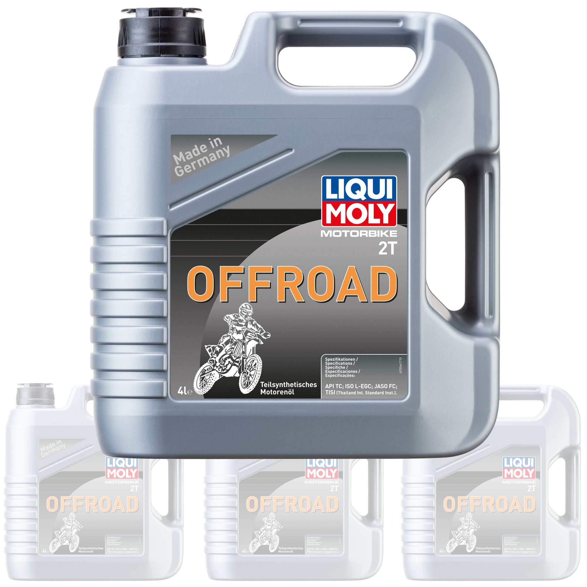 Liquimoly Oil 2 Stroke - Semi Synth - Offroad 4L 3066 (Box Qty 4)